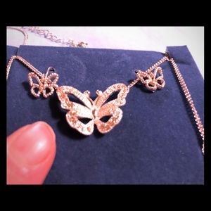 Butterfly 🦋 Necklace & Earrings Gift Set New